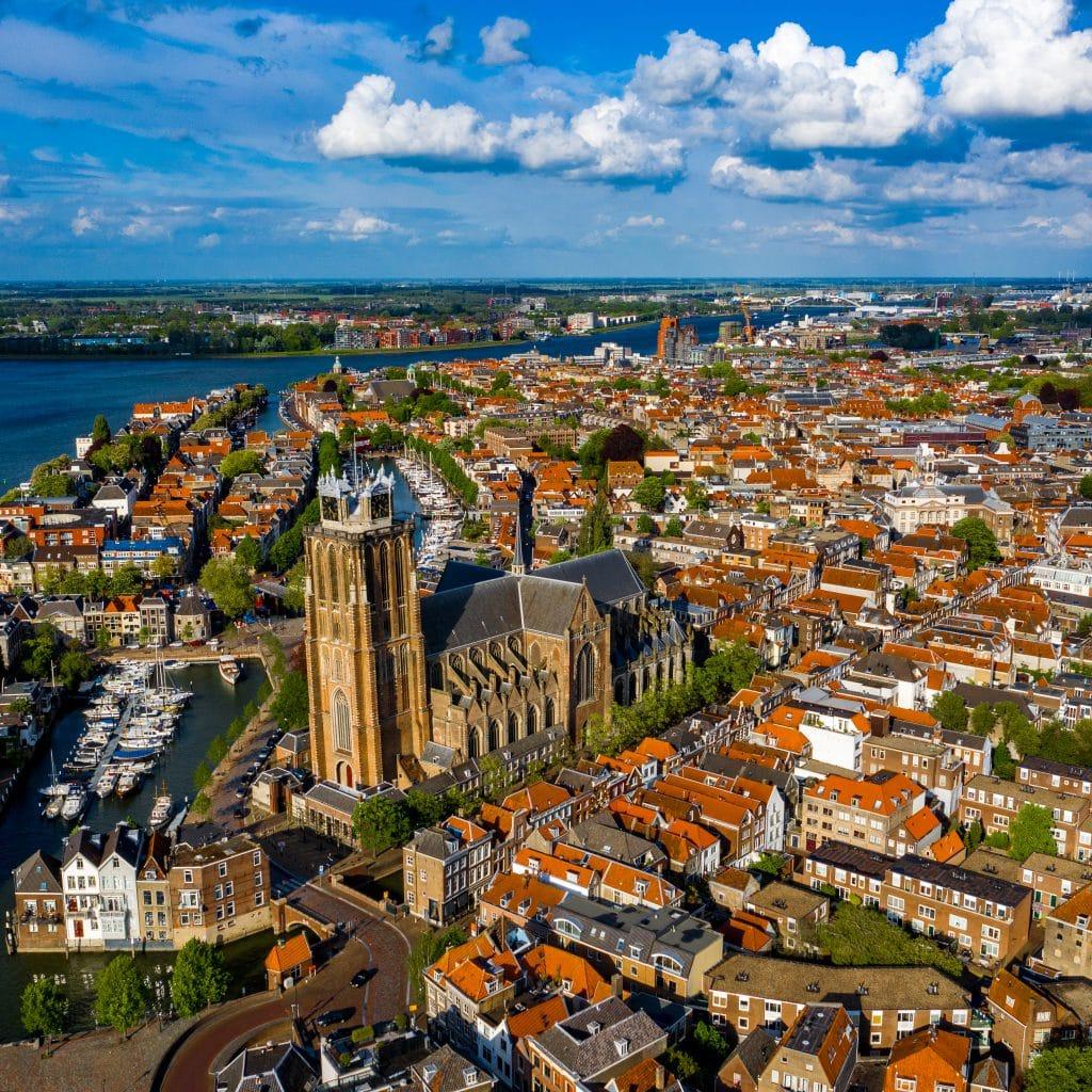 Dordrecht vanuit de lucht