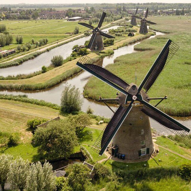 Werelderfgoed Kinderdijk fietsen