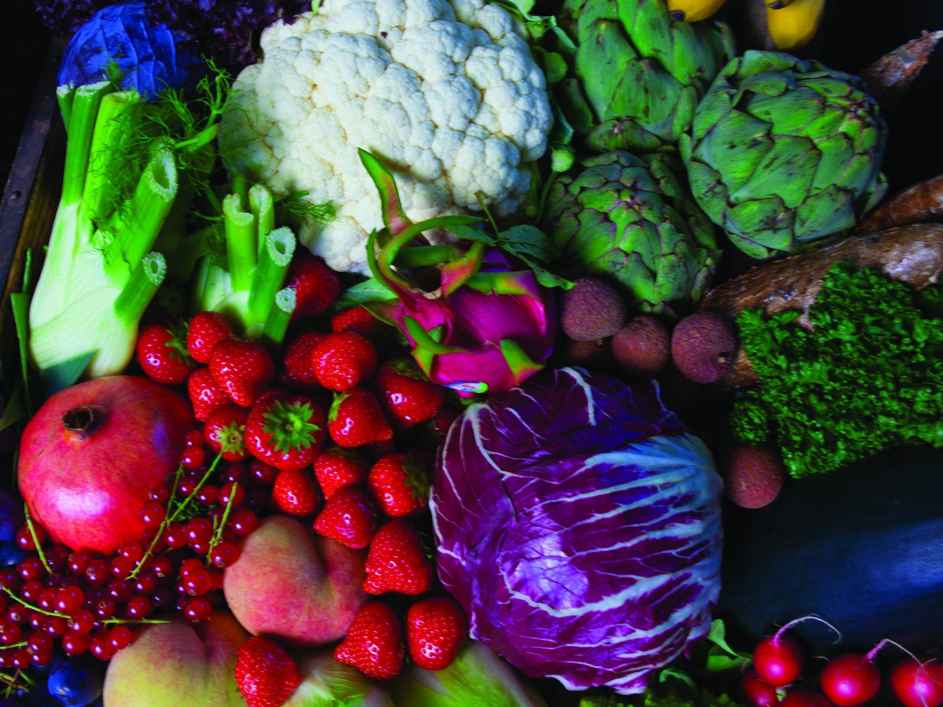 Verse groenten en fruit biologisch