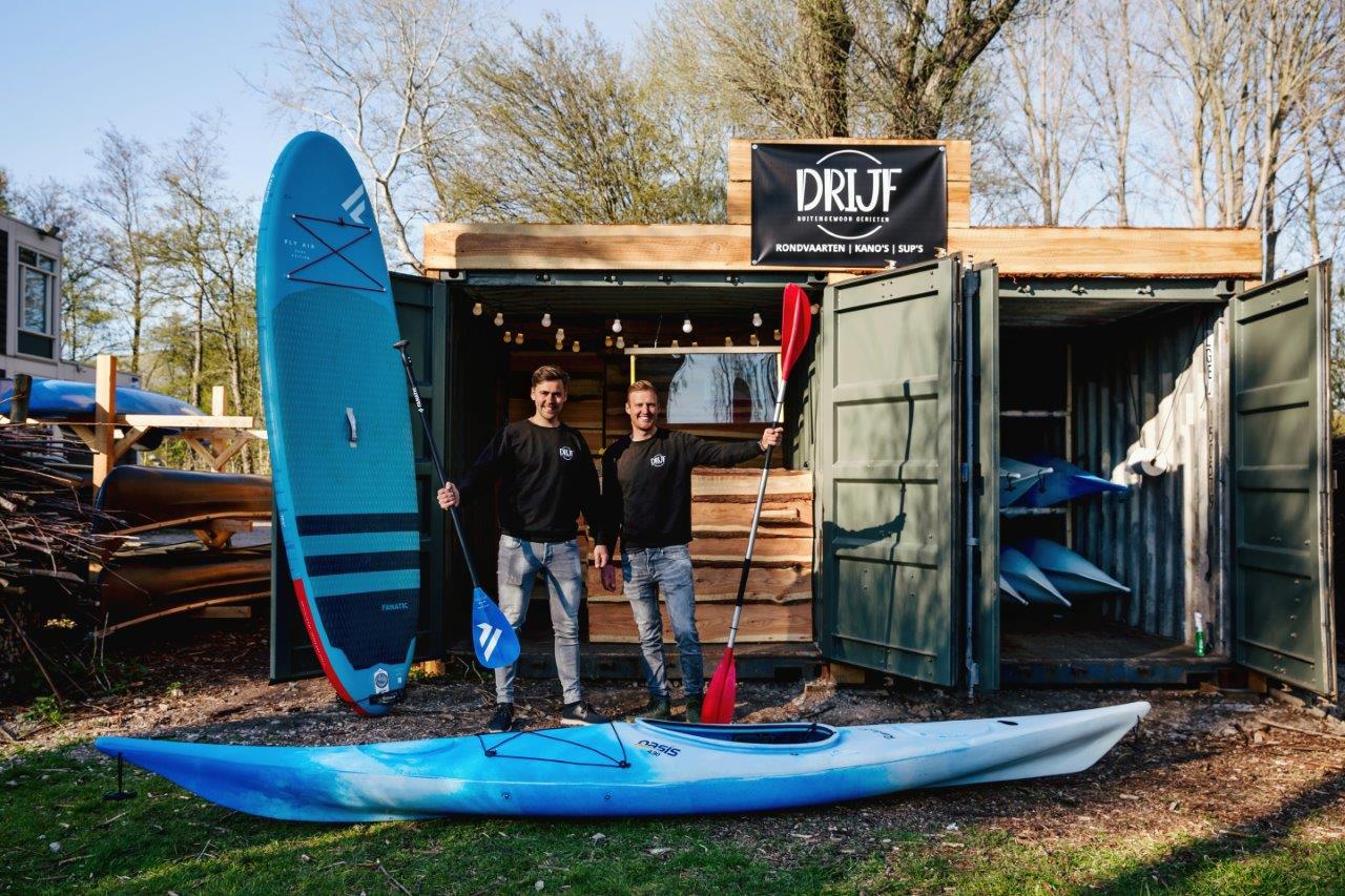 DRIJF Dordrecht sup kano's Biesbosch Stayokay