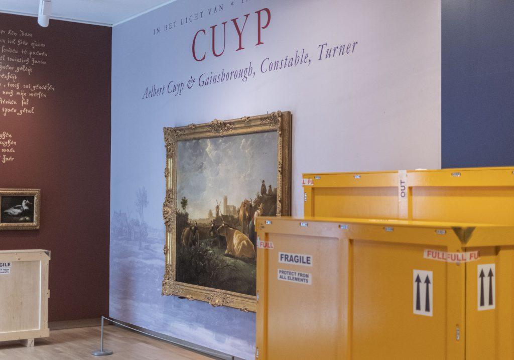 Opbouw expositie In het licht van Cuyp Dordrechts Museum Dordrecht